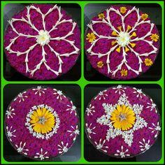 Floating flowers Diwali Decorations, Festival Decorations, Flower Decorations, Wedding Decorations, Flower Rangoli, Flower Garlands, Simple Flowers, Beautiful Flowers, Pookalam Design