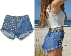 High waisted STUDDED shorts Vintage Calvin Klein by DSMjeans
