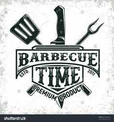 Royalty-Free Vector Images by Boogie_Man (over Logo Restaurant, Barbecue Restaurant, Bbq, Grill Bar, Grill Logo, Bar Vintage, Vintage Labels, Barbacoa, Pizza Logo