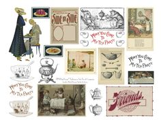 Plush Possum Studio: Collage Printable Freebie: Teatime in Good Company