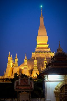 That Luang, Vientiane - a symbol of Laos's artistic independence. The foundation of the building is a combination of Khmer, Lao, and Ceylonese influences