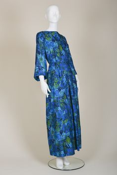Beautiful 70s evening dress with bell sleeves
