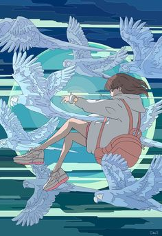 Aesthetic Art, Aesthetic Anime, Arte Indie, Anime Scenery Wallpaper, Anime Art Girl, Animes Wallpapers, Japanese Art, Cute Drawings, Cute Art