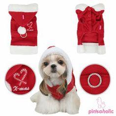 Patrones de ropa para perros: Patrón de traje de santa claus para perro
