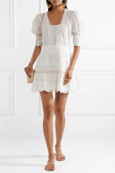 Kristen broderie anglaise cotton mini dress