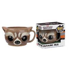 Funko Home Rocket Raccoon Mug, Marvel, Guardians of the Galaxy, Guardiões da Galáxia, Pop! Home, Funkomania, Quadrinhos