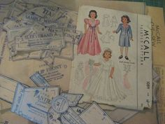 ORIGINAL Doll Clothes PATTERN 1089 for 15 inch Little Lady Dolls by Effanbee #McCalls
