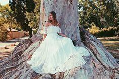 Bohemian Wedding Dress Simple Lace Wedding Dress by paulastudio