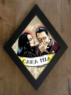 Gomez Addams and Morticia Addams diamond framed by bwanadevilart Morticia Addams, Gomez And Morticia, Horror Decor, Horror Art, Gothic House, Gothic Room, Gothic Home Decor, Painting Frames, Stargate