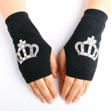 Feitong 2019 Crystal Women Sexy Party Gloves 22 Long Black White Satin Finger Mittens High Quality Fashion Gift Wide Selection; Apparel Accessories