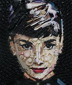 Audrey Hepburn portrait made by Kirkland Smith