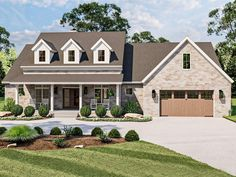 050H-0423: Country Southern House Plan with Bonus Room Country House Plans, Best House Plans, Southern Country Homes, Southern Style, Floor Plan Drawing, Build Your Dream Home, Walk In Pantry, Sunroom, Great Rooms