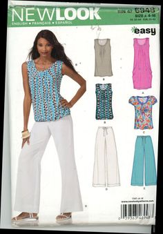 New Look 6948 Easy Wardrobe Blouse Dress by HeavenztoBetsyDesign