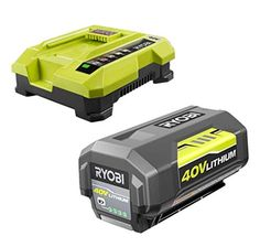 Ryobi OP4030 40 Volt Lithium-Ion 3 Ah Battery + OP401 40 Volt Charger Bundle (Renewed)