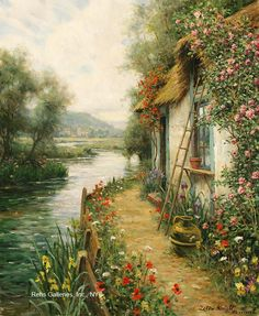 View Beaumont by Louis Aston Knight on artnet. Browse upcoming and past auction lots by Louis Aston Knight. Louis Aston Knight, Cross Stitch Landscape, Cottage Art, French Cottage, American Artists, Landscape Paintings, Cross Stitch Patterns, Fantasy Art, Scenery