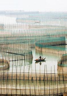 Fisherman in Xiapu, China - Photography, Landscape photography, Photography tips Photography Tips, Landscape Photography, Travel Photography, Beautiful World, Beautiful Images, Art Asiatique, Mood Images, Art Brut, Monochrom