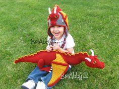 Ravelry: Dragon Hat & Toy Pattern Combo Pack pattern by Joni Memmott / BriAbby