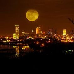 There's a full moon over Tulsa. I hope that it's shining on you...