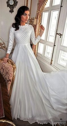 Modest Wedding Gowns Modern Winds Collection