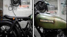Blitz Motorcycles - Bikes - Yamaha 500 SR 'Honda Tank' seat