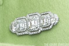 Queen Elizabeth II, the Graving Dock Diamonds Brooch; a gift of five diamonds given to Princess Elizabeth in 1947 when she opened the new Graving Dock in East London, June 24-30, 2016 | The Court Jeweller