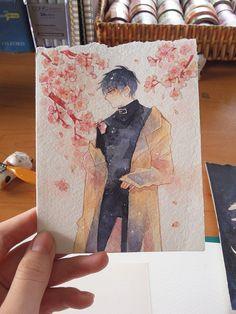 Subaru Sumeragi by Mappiee on DeviantArt Manga Watercolor, Watercolour Drawings, Watercolor Illustration, Watercolor Paintings, Gouache, Anime Drawings Sketches, Cute Drawings, Pretty Art, Cute Art