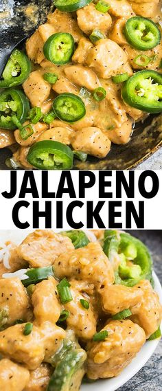This quick and easy JALAPENO CHICKEN recipe makes a great 30 minute meal or easy weeknight meal. Requires simple ingredients and inspired by Asian/Chinese flavors. From cakewhiz.com