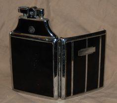 Vintage Art Deco Ronson Lighter & Cigarette Case