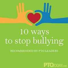 Stomping out bullying is clearly a priority for parent groups. #PTO #PTA