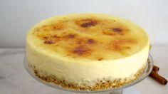Tarta de crema catalana POR MENOS DE 3 EUROS ¡Super fácil y sin horno!