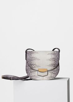 Small Trotteur Bag in Lizard - Céline