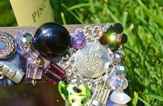 handmade wine charm jewerly mosaic mirror by MosaicTreasureBox