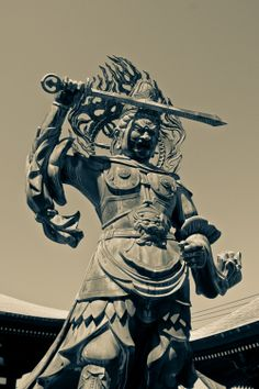 In Japan, Bishamonten is thought of as an armor-clad god of warfare or warriors & a punisher of evildoers – a view that is at odds with more pacific Buddhist king. Bishamon is portrayed holding a spear in one hand & a small pagoda in the other hand, the latter symbolizing the divine treasure house, whose contents he both guards & gives away. In Japanese folklore, he is one of the Japanese Seven Gods of Fortune.