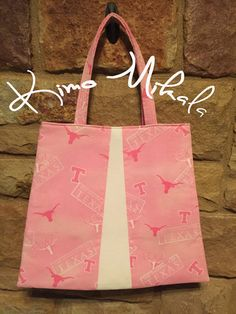 Pink University of Texas Longhorn Purse by KimoMikalaSewing