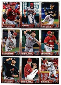 2015 Topps Baseball Cards Arizona Diamondbacks Complete Team Set (Series 1 2 - 26 Cards ) Including Vidal Nuno, Didi Gregorius, Paul…