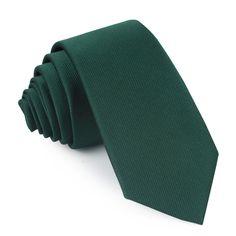 2aa25be198b1 Dark Green Weave Skinny Tie