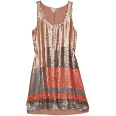 Gold Hawk Sequin Tank Dress