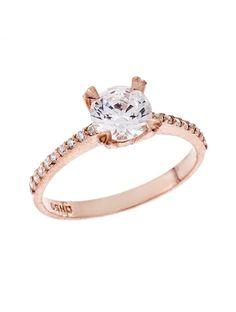 Μονόπετρο Δαχτυλίδι Ροζ Χρυσό 9Κ με Ζιργκόν Αναφορά 020078 Ένα μονόπετρο δαχτυλίδι που μπορείτε να χαρίσετε σε μια γυναίκα για γάμο ή αρραβώνα κατασκευασμένο από Χρυσό 9Κ σε ροζ χρώμα,με ημιπολύτιμες πέτρες (ζιργκόν) σε άσπρο χρώμα. Engagement Rings, Jewelry, Fashion, Enagement Rings, Moda, Wedding Rings, Jewlery, Jewerly, Fashion Styles