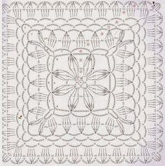 Loza: crochet square motif.