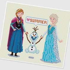 PDF Cross Stitch pattern  Frozen  INSTANT DOWNLOAD by PIXcross