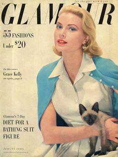 Grace Kelly (Glamour magazine, June 1955)                                                                                                                                                                                 More