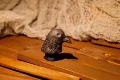 black bird, raven wine bottle stopper - unique looks, perfect for halloween or apothecary collection