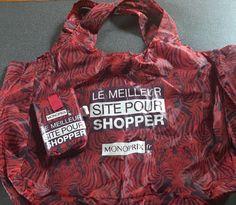 Le rouge fauve - sac Monoprix j'adore les courses en sac Eiffel Tower shopping bag tote  Monoprix