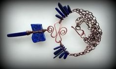 Lapis and Copper.. available at Winterfair Columbus @designsbylynnea