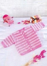 Pink and White Dress for girls 0-9 months free crochet graph pattern