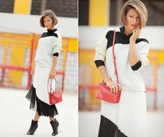 black and white outfit by Galant Girl