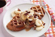 If they've never tried waffled French toast, they're in for a treat! Get out the waffle iron and some challah bread and let's get started.