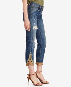 Polo Ralph Lauren Waverly Straight Crop Jeans | macys.com