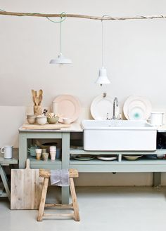 rustic pastel (but for my bathroom!)