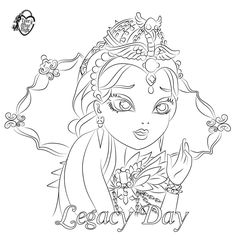 Ever After High Coloring Pages Raven Queen Colouring